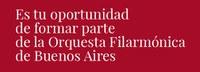 Concursos en la Orquesta Filarmónica de Buenos Aires - Teatro Colón