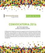 Convocatoria del Fondo de Becas 2016 del Mozarteum Argentino