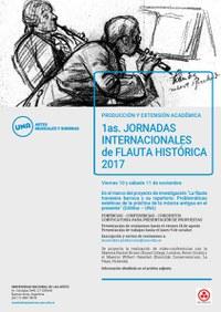 Convocatoria para la presentación de propuestas para las Primeras Jornadas Internacionales de Flauta Histórica