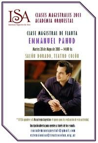 Emmanuel Pahud, masterclass en el Teatro Colón