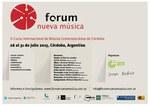 II Curso Internacional de Música Contemporánea - Córdoba