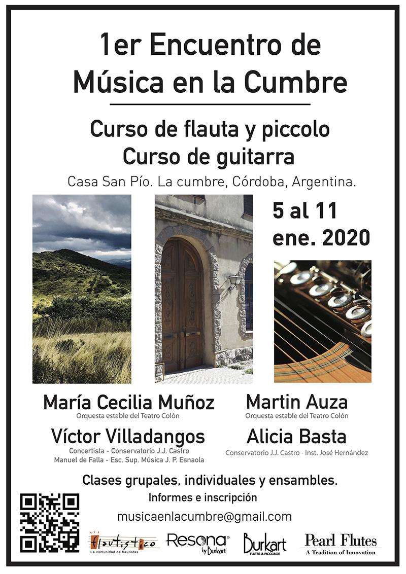 Primer encuentro de Música en la Cumbre, Córdoba. Argentina.
