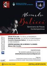 Seminario de Flauta contemporánea, Prof. Alessandro Baticci