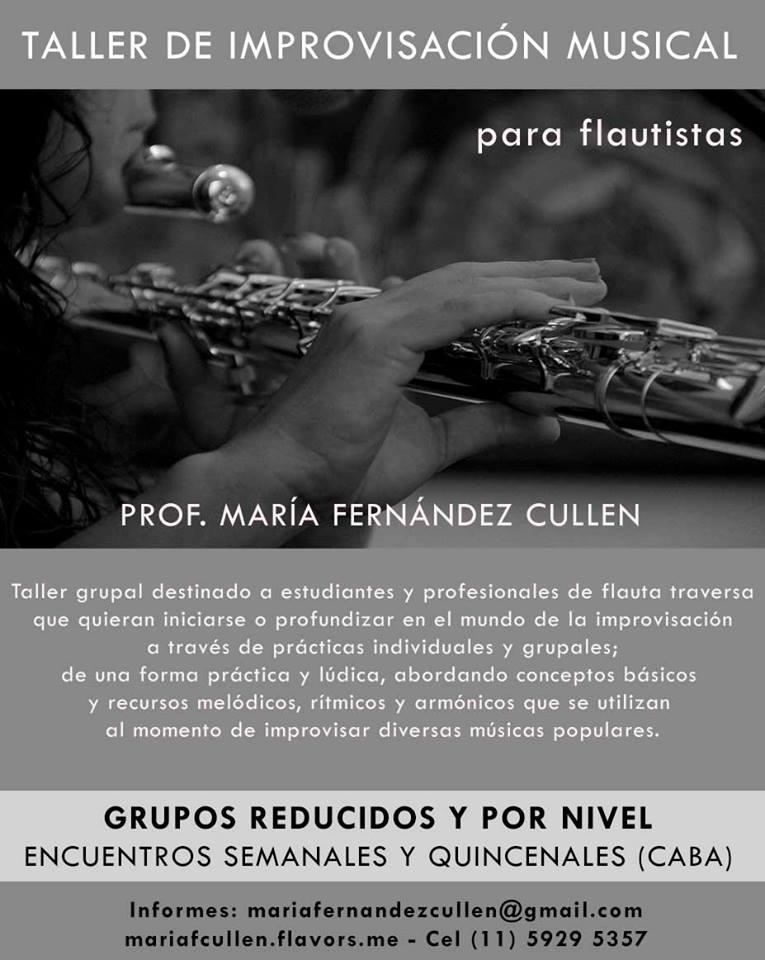 Taller de improvisación musical para flautistas