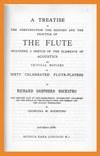 """A Treatise on the Flute"" por Rockstro"