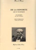 """""""De la sonorite, art et technique"""", de Moyse"""